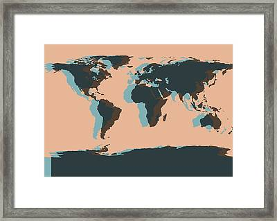 World Map Pop Art Framed Print by Dan Sproul