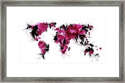 World Maps 5 Framed Print