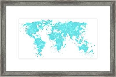World Maps 8 Framed Print