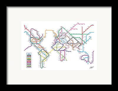 Tube map art fine art america tube map framed prints gumiabroncs Choice Image