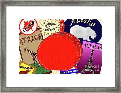 World My Playground Framed Print by Melissa Stinson-Borg