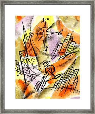 World Od Travel Framed Print by Leon Zernitsky