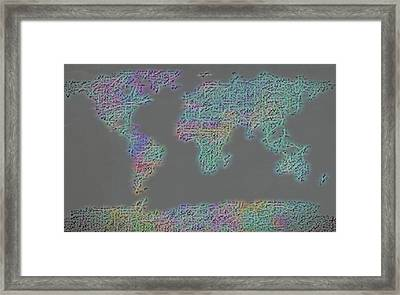 World Of Music Framed Print by Dan Sproul