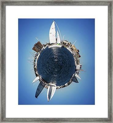 World Of Sailboats Charleston Sc Framed Print