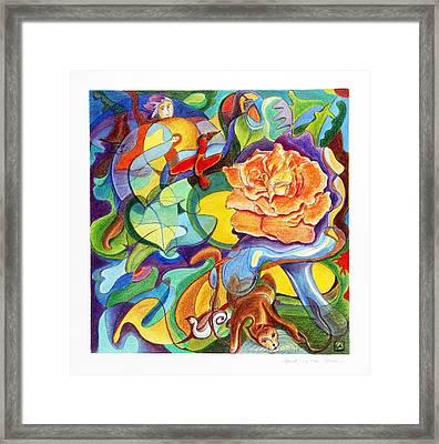 World Of The Rose Framed Print by Monika Kretschmar