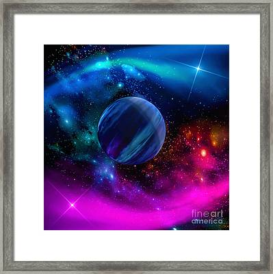 World Of Water Framed Print by Naomi Burgess