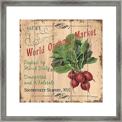 World Organic Market Framed Print
