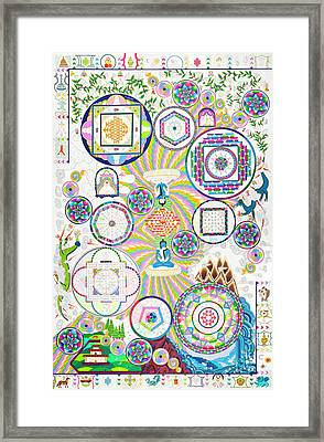 World Peace Mandala Framed Print
