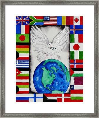 World Peace Framed Print by Maria Barry