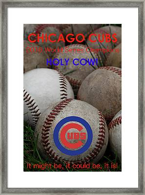 World Series Champions - Chicago Cubs Framed Print