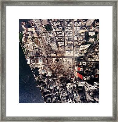 World Trade Center, Aerial Photograph Framed Print by Everett