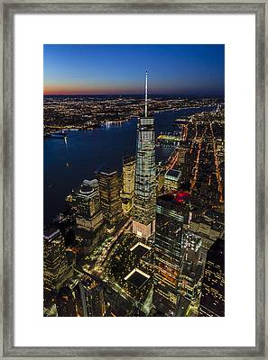 World Trade Center And 911 Reflecting Pools Framed Print by Susan Candelario