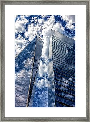 World Trade Center And Clouds Framed Print