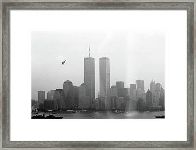 World Trade Center And Opsail 2000 July 4th Photo 18 B2 Stealth Bomber Framed Print by Sean Gautreaux