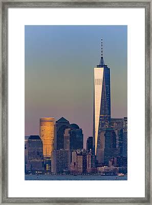World Trade Center Downtown Manhattan Framed Print