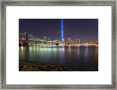 World Trade Center Memorial Framed Print by Shane Psaltis