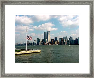 World Trade Center Remembered Framed Print