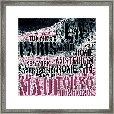 World Traveler Framed Print by Brandi Fitzgerald