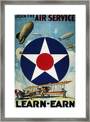 World War I: Air Service Framed Print by Granger
