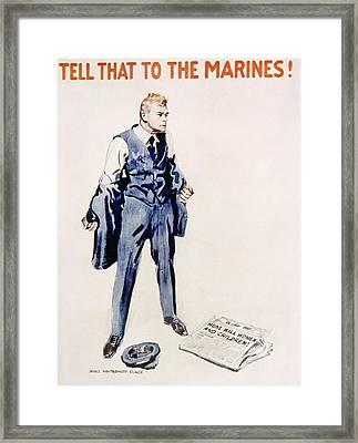 World War I American Marines Recuiting Framed Print