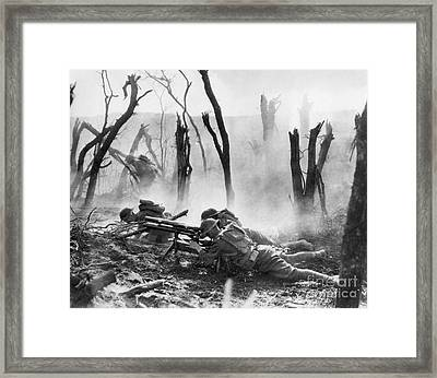 World War I: Battlefield Framed Print by Granger