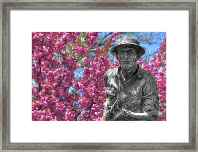 World War I Buddy Monument Statue Framed Print by Shelley Neff