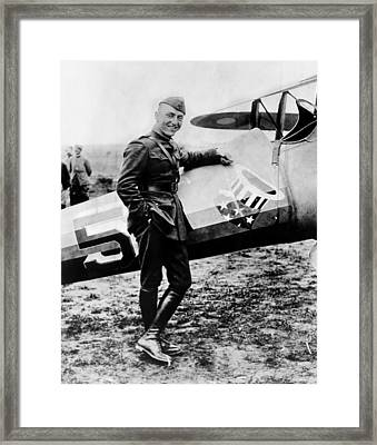 World War I Fighter Ace And Air Advisor Framed Print by Everett