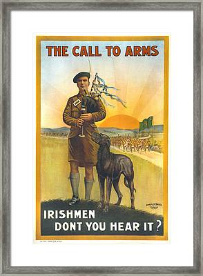 World War I, Irish Military Recruitment Framed Print by Everett