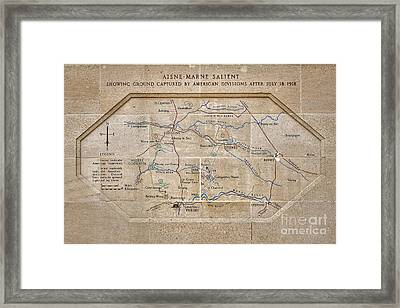 World War I Marne Battle Map  Framed Print by Olivier Le Queinec