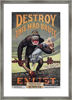 World War I: Recruitment Framed Print