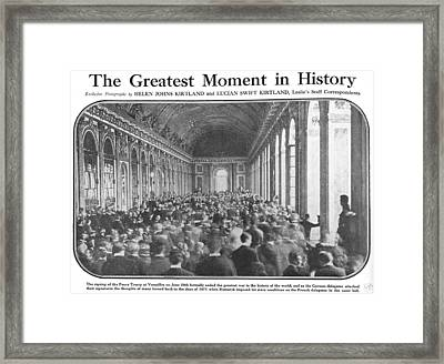 World War I, Signing The Peace Treaty Framed Print by Everett
