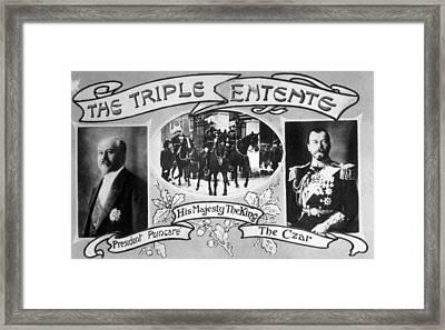 World War I, The Triple Entente, French Framed Print