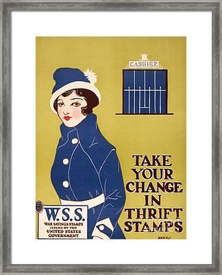 World War I: Thrift Stamps Framed Print by Granger
