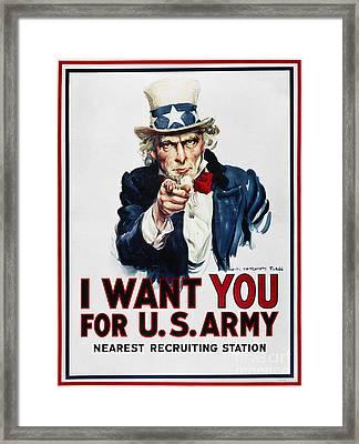 World War I: Uncle Sam Framed Print