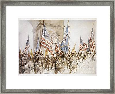 World War I: Victory Parade Framed Print by Granger