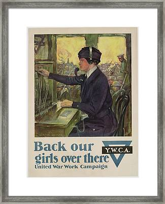 World War I Ywca Poster Framed Print by Clarence F Underwood