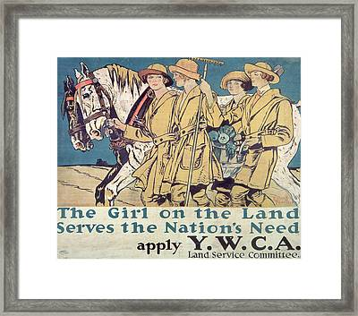 World War I Ywca Poster  Framed Print by Edward Penfield