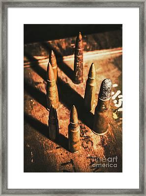 World War II Ammunition Framed Print by Jorgo Photography - Wall Art Gallery