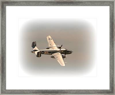 World War II B25 Mitchell Bomber Framed Print by David Dunham