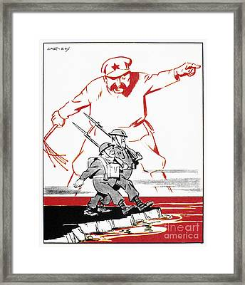 World War II: Cartoon, 1944 Framed Print