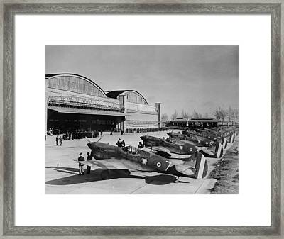 World War II, Original Caption Line-up Framed Print by Everett