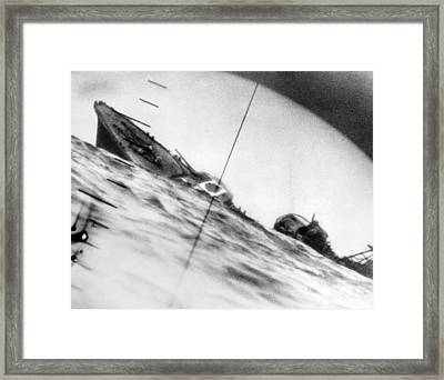 World War II, The Sinking Of A Japanese Framed Print by Everett