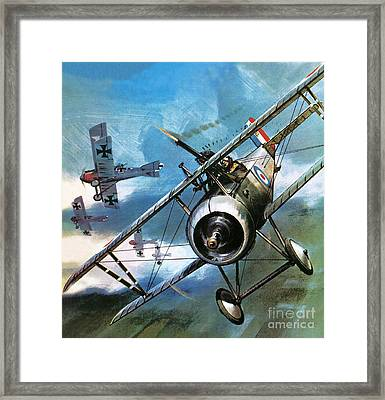 World War One Dogfight Framed Print by Wilf Hardy