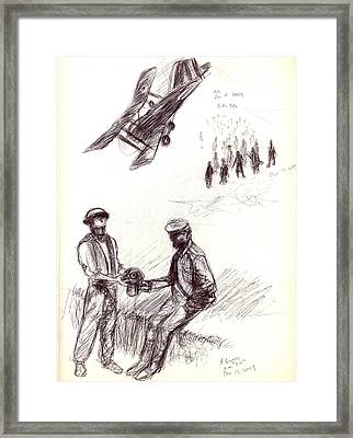 World War One Sketch No. 2 Framed Print