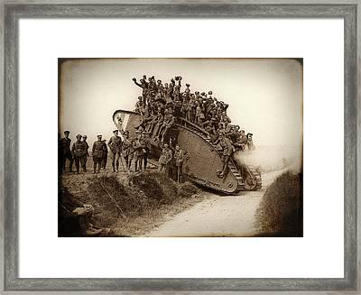 World War One Tank C. 1917 Framed Print by Daniel Hagerman