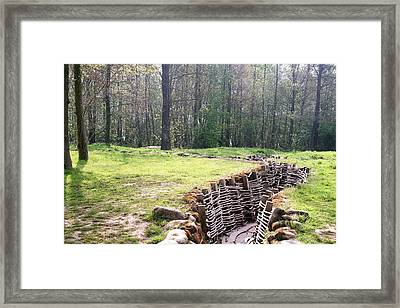 Framed Print featuring the photograph World War One Trenches by Travel Pics
