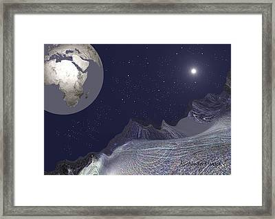 Framed Print featuring the digital art 1657 - Worlds - 2017 by Irmgard Schoendorf Welch
