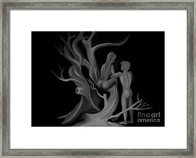 Worlds First Love Framed Print by UniQ Arts