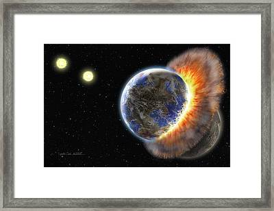 Worlds In Collision Framed Print