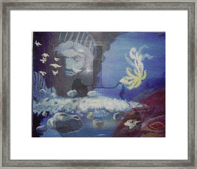 Worlds Merge With Music Framed Print by Enton Boothe